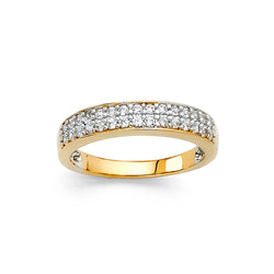 Round CZ Pavé Channel Band - 3.5 mm