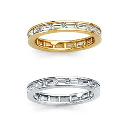 Baguette CZ Eternity Band