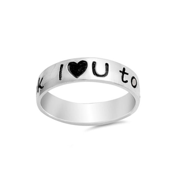 I Love You to Moon and Back Ring