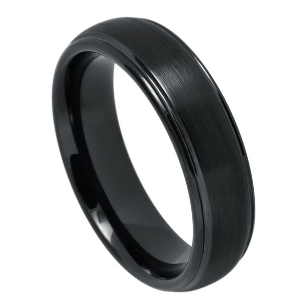 Black Grooved Edge Band