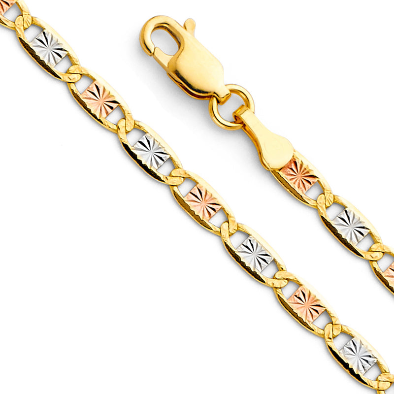 Valentino Star Diamond Cut Chain Bracelet