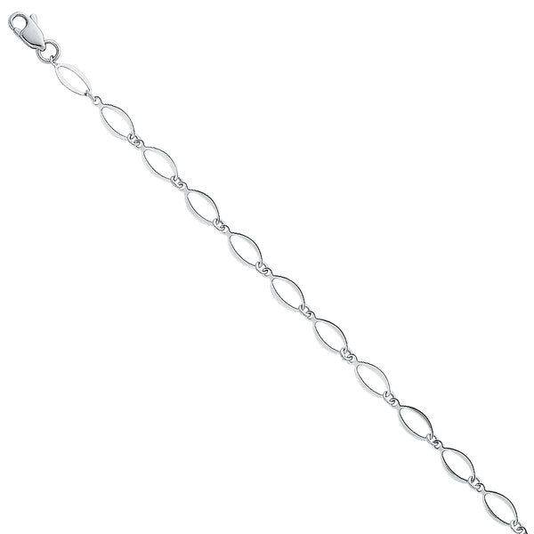 Hollow Oval Link Chain Bracelet