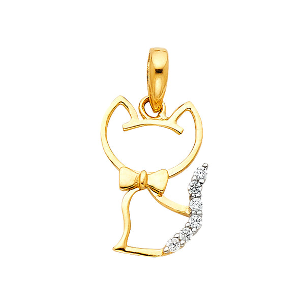 Kitty Cat CZ Pendant