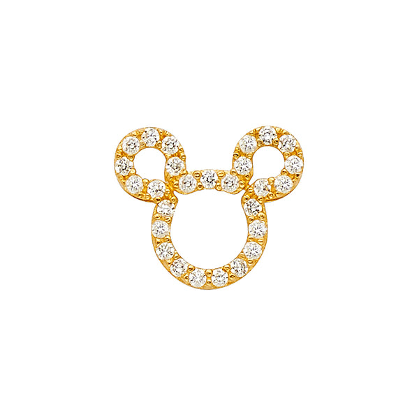 Mouse Head Eternity CZ Pendant