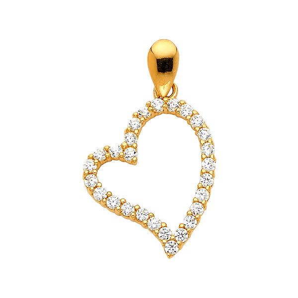 Open Heart Eternity CZ Pendant
