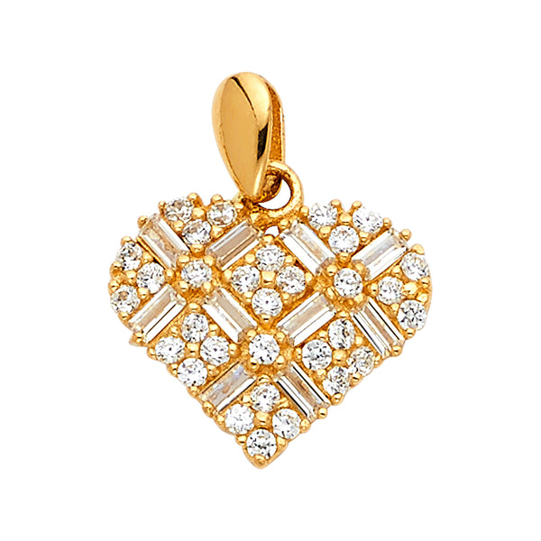 CZ Filled Heart Pendant