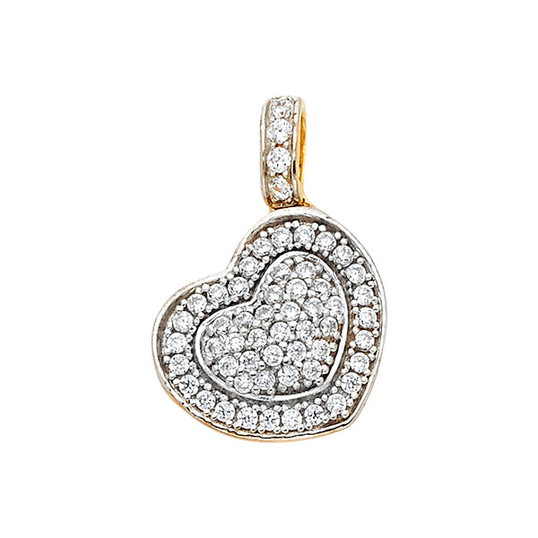 CZ Filled Layered Heart Pendant