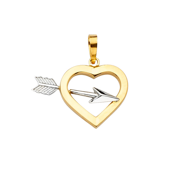Cupid Heart & Arrow Pendant
