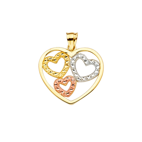 Colorful Hearts Pendant