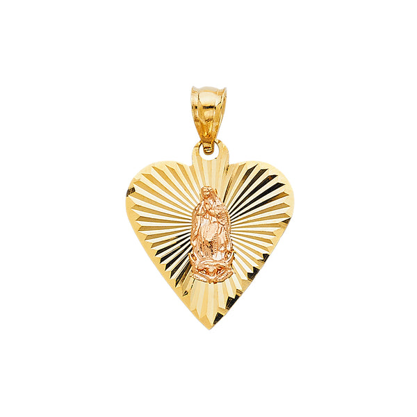 Mary of Guadalupe Heart Pendant