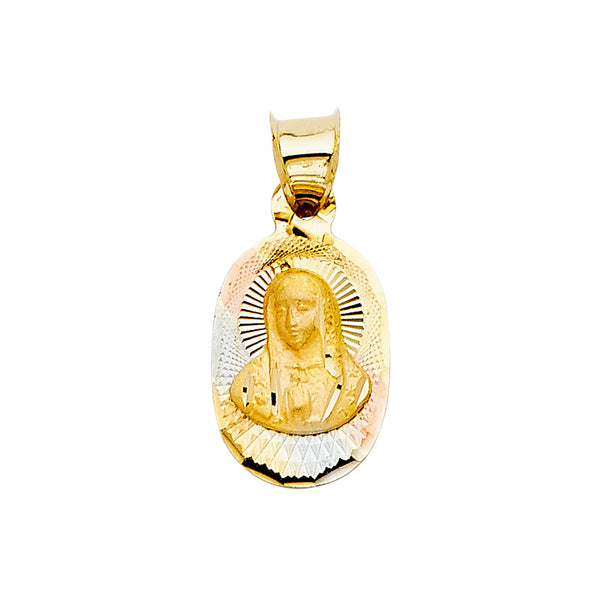 Virgin Mary Oval Pendant