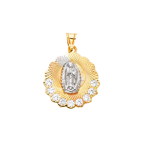 Mary of Guadalupe CZ Pendant