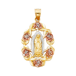 Mary of Guadalupe Rose Pendant