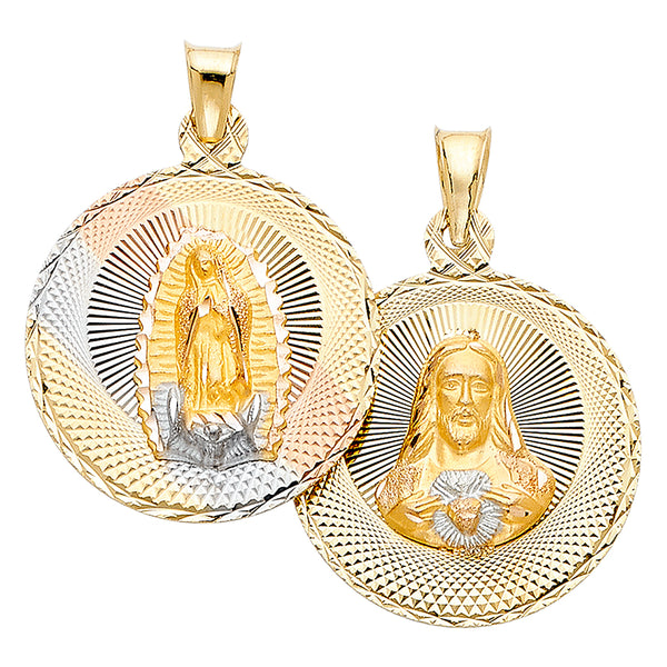 Jesus & Mary Double Sided Pendant