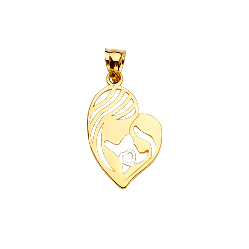 Mom & Child Heart Pendant