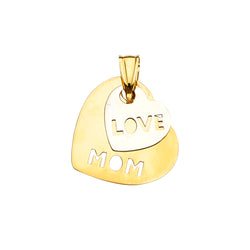 Heart Love Mom Pendant