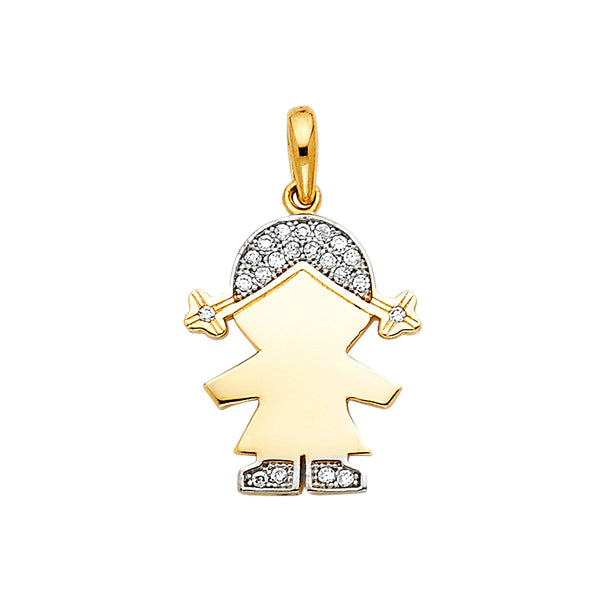 Child CZ Engravable Pendant