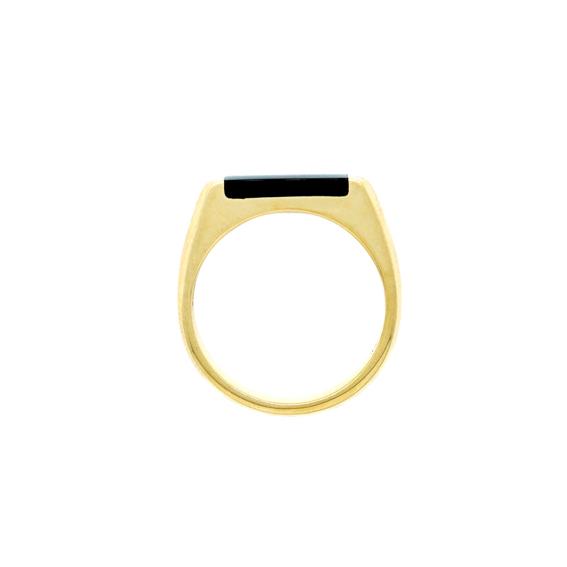 Rectangle Onyx Ring