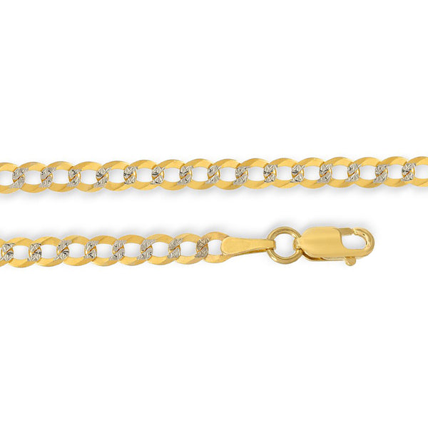 Cuban Chain Necklace - White Pave