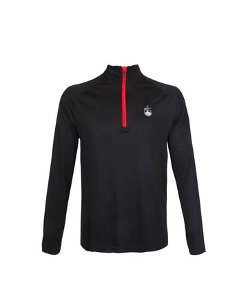 Mens 1/4 Zip Midlayer Black