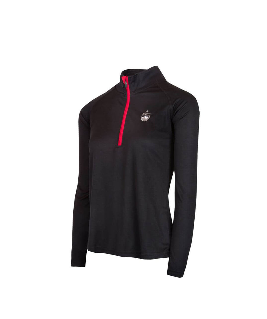 Womens 1/4 Zip Midlayer Black