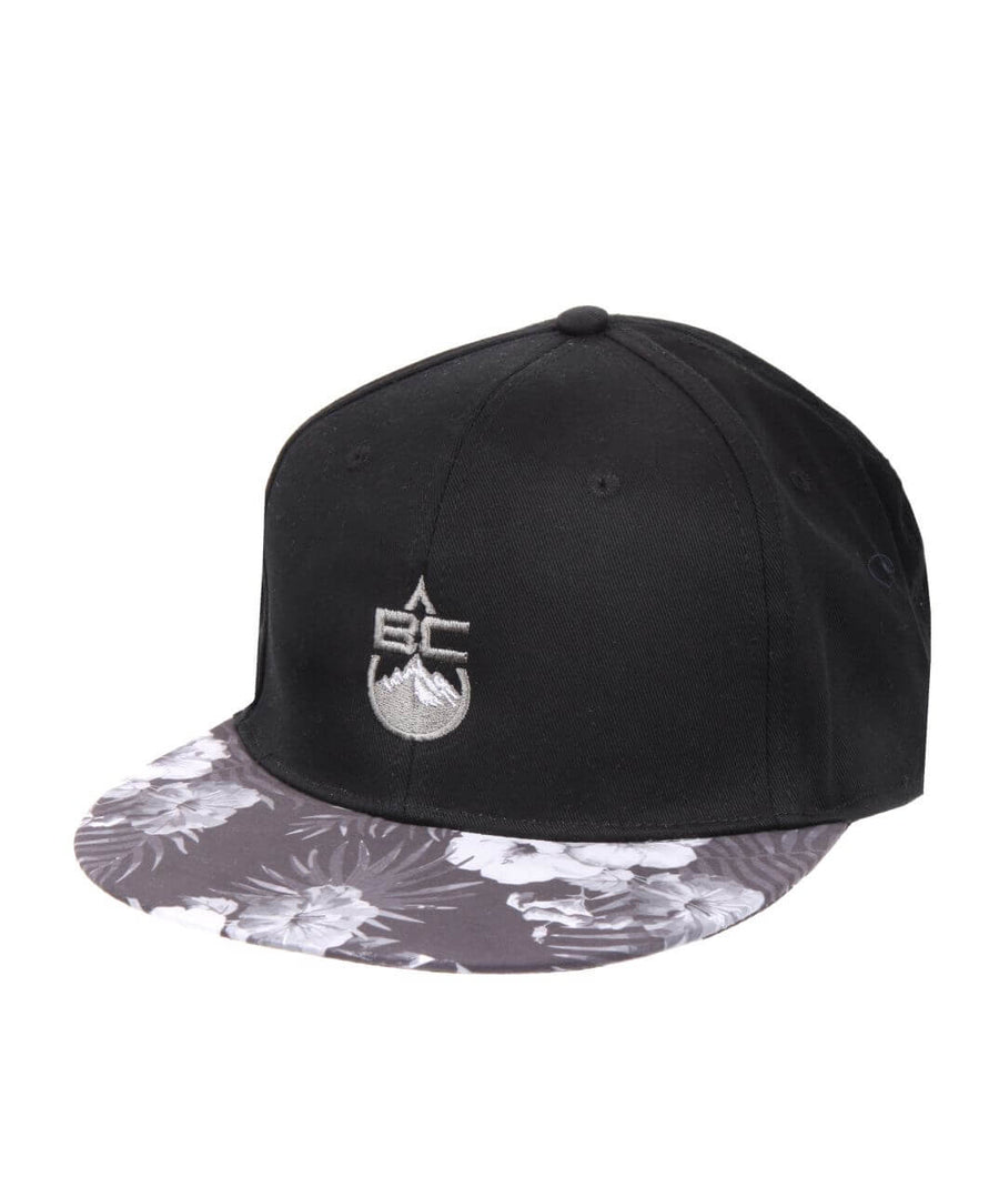 Flat Peak Cap Carbon & Flower Peak