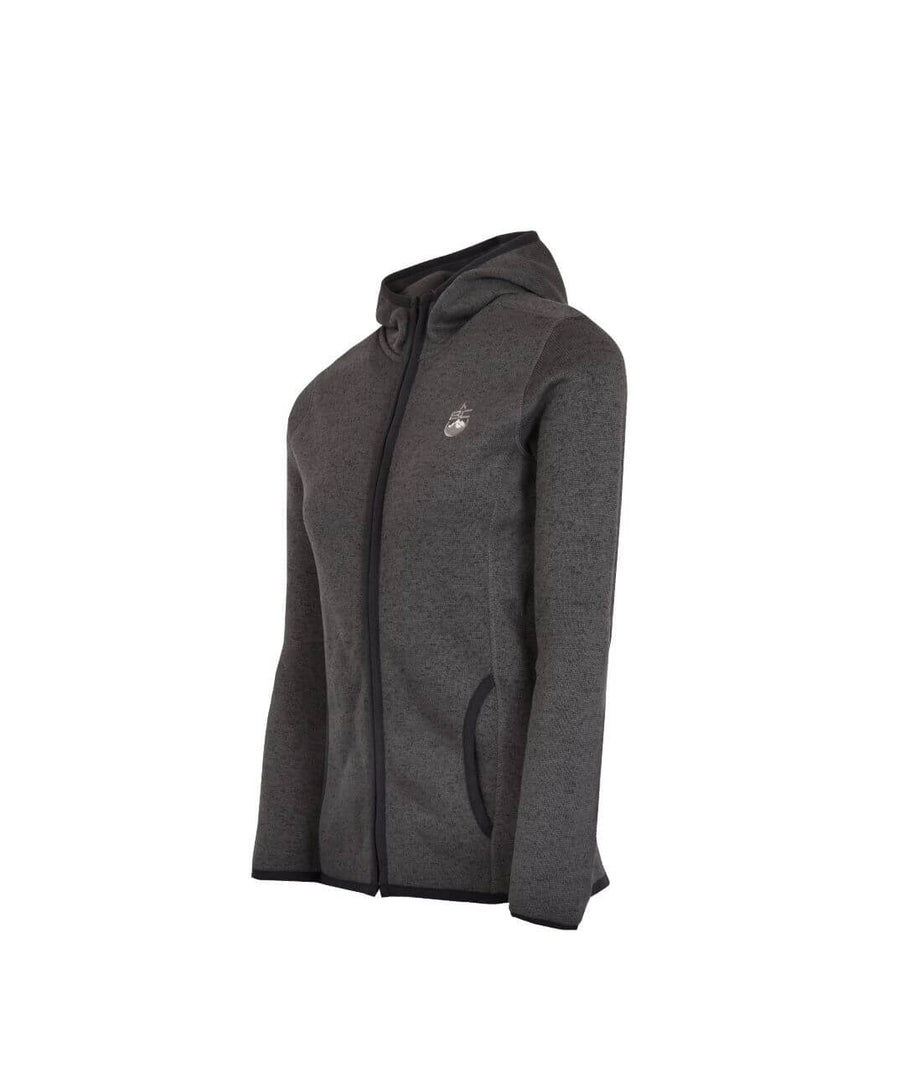 Mens Full Zip Fleece Jacket Dark Grey