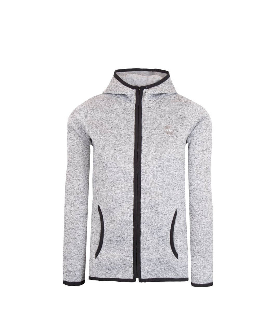 Mens Full Zip Fleece Jacket Light Grey