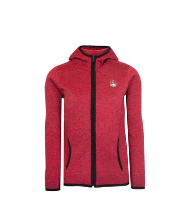 Mens Full Zip Fleece Jacket Red