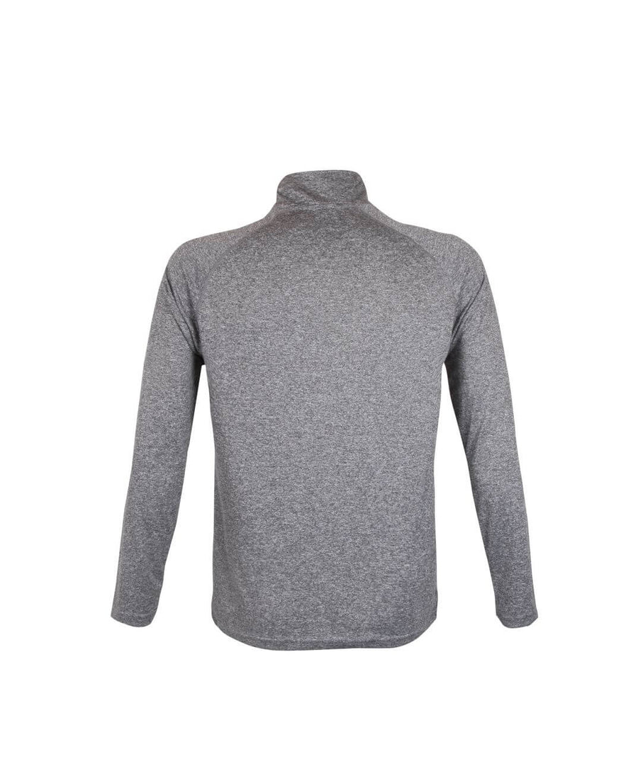 Mens 1/4 Zip Midlayer Grey