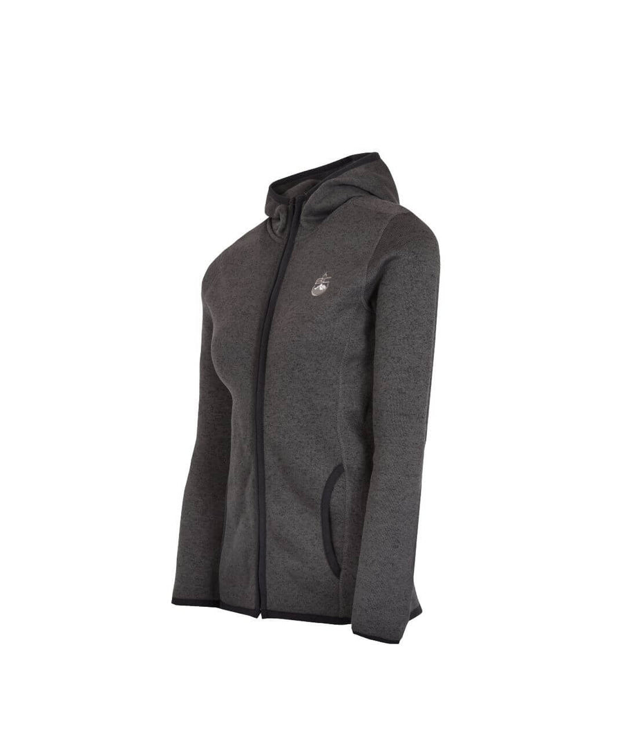 Womens Full Zip Fleece Jacket Dark Grey