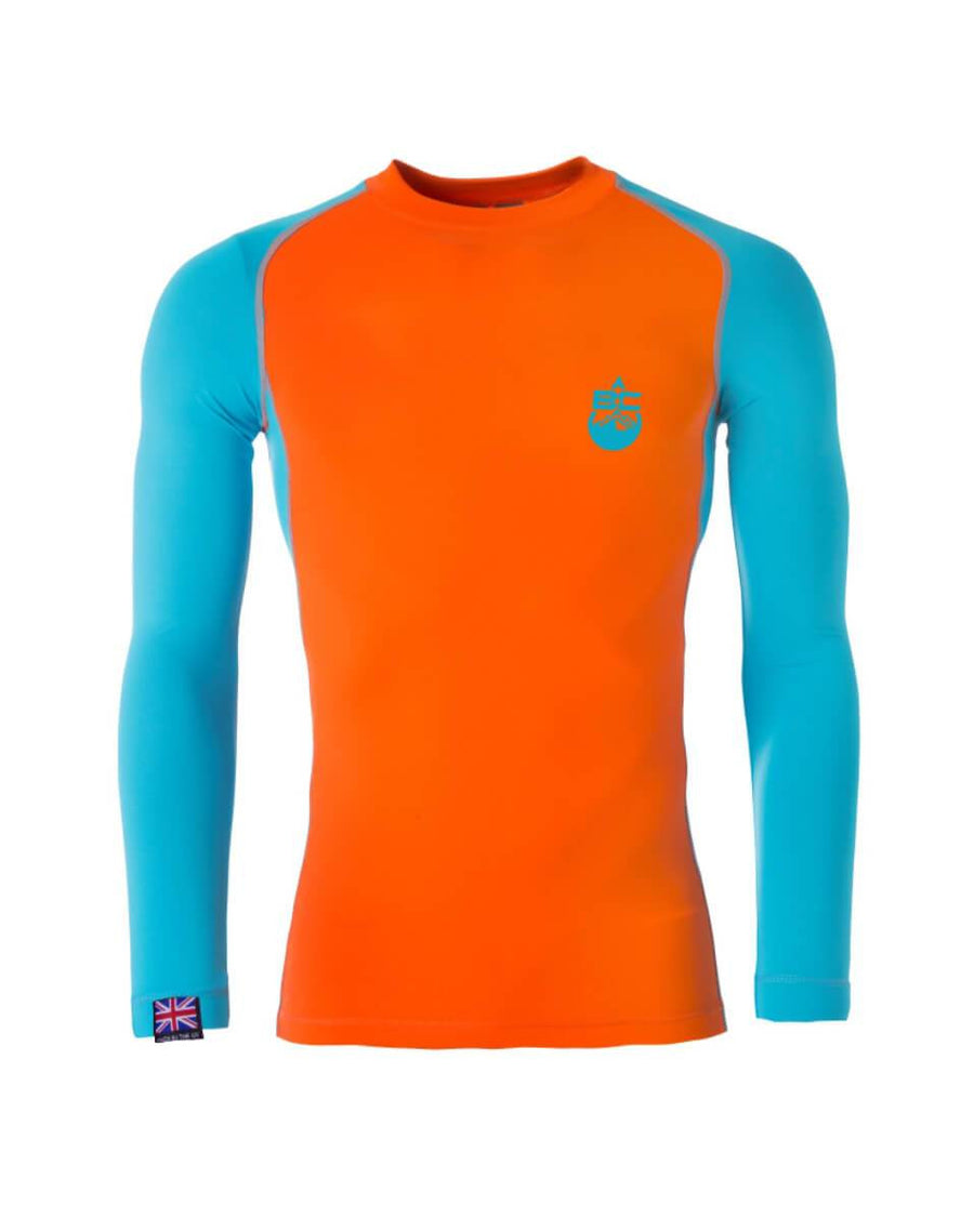 High Contrast Burnt Orange & Bondi Blue