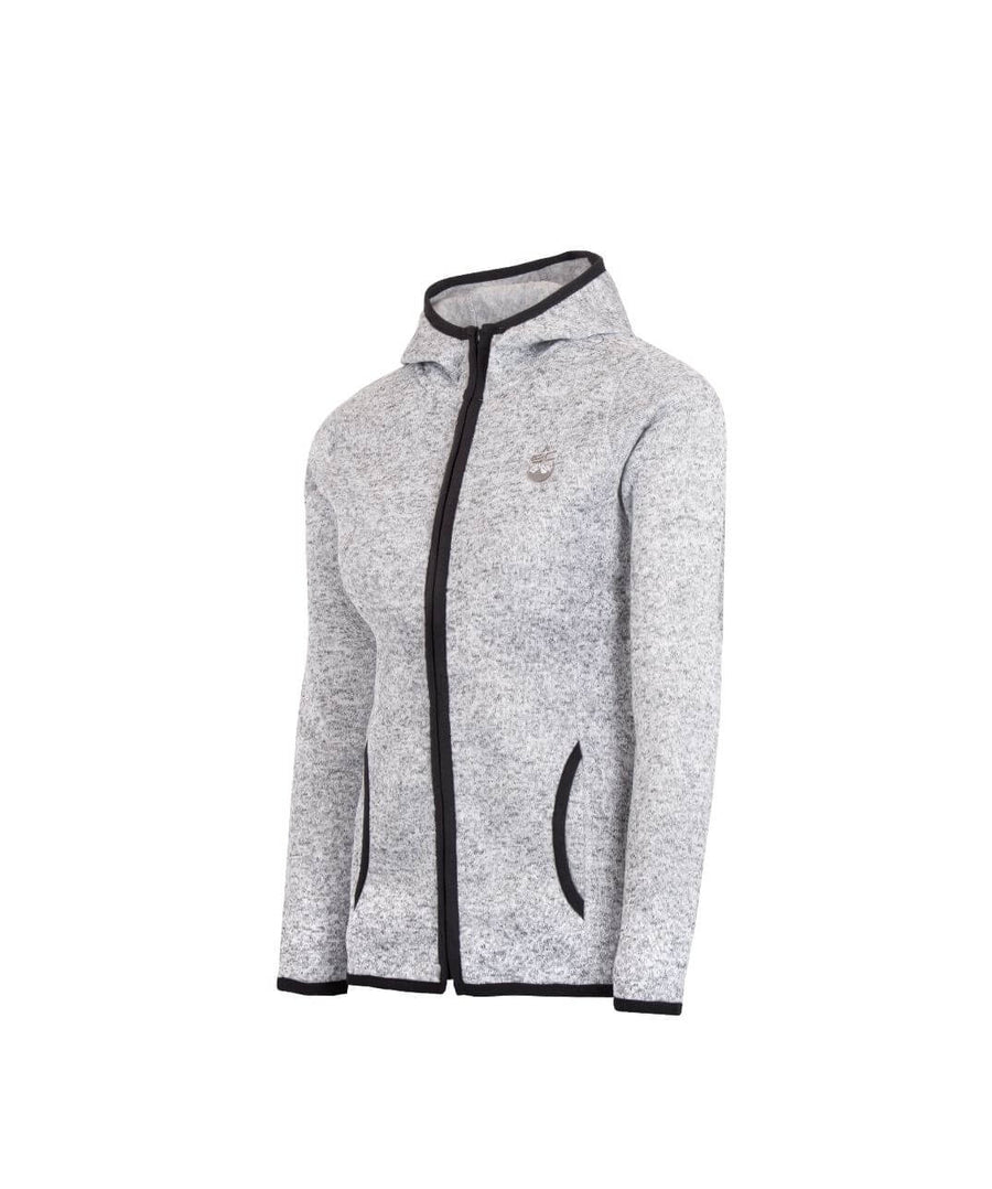 Womens Full Zip Fleece Jacket Light Grey