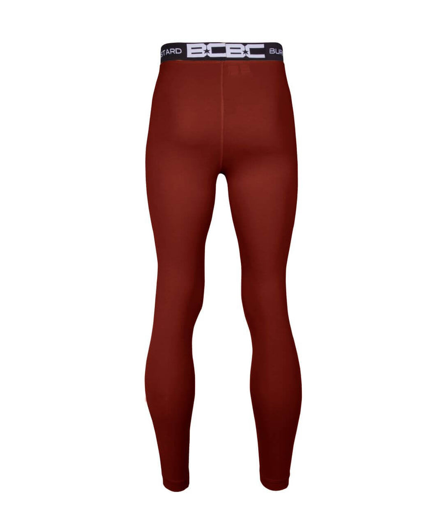 Mens Leggings Burgundy