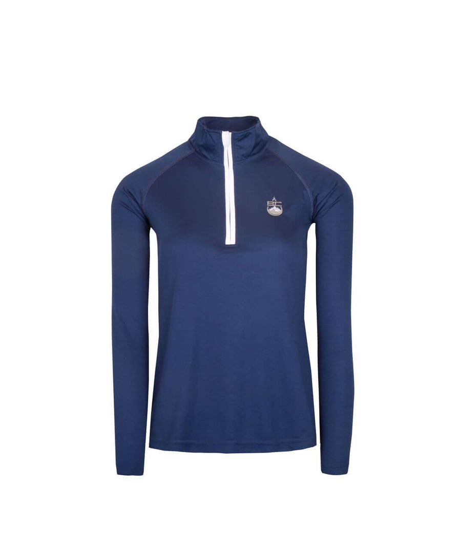 Womens 1/4 Zip Midlayer Navy