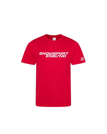 Snowsport England Kids Training Top Red