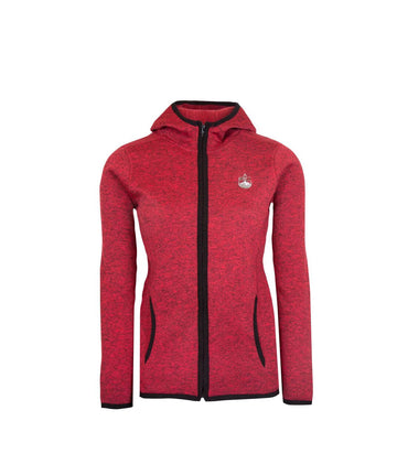 Womens Full Zip Fleece Jacket Red