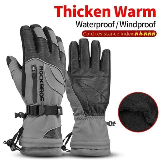 Raymar's S133Gray / L Waterproof Ski -30 Winter Windproof  Gloves