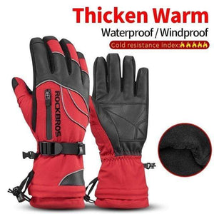 Raymar's S133Red / L Waterproof Ski -30 Winter Windproof  Gloves