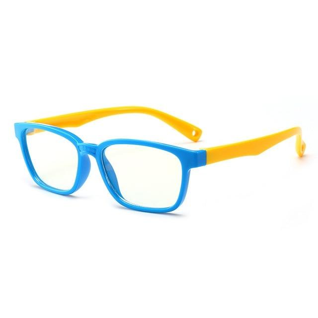 Trending Dealz Blue/Yellow Kids Blue Light Blocking Glasses
