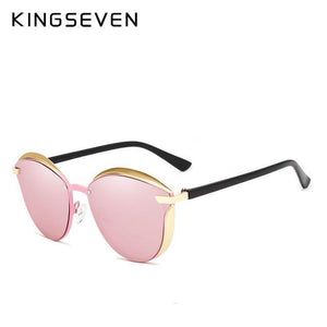 Trending Dealz C02 PINK KINGSEVEN Vintage Women Polarized Sunglasses