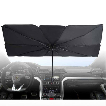 Trending Dealz SMALL (HATCHBACK) Car UV Sun Blocker Umbrella