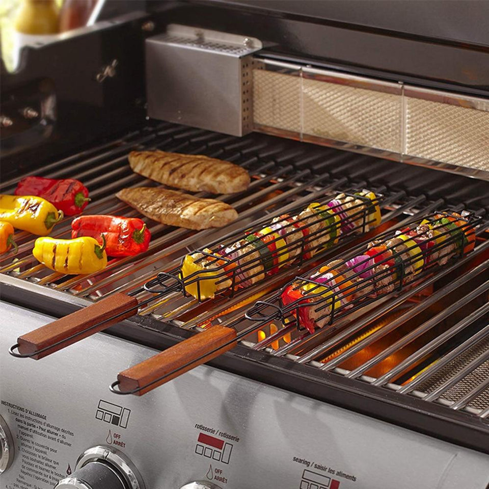 Trending Dealz Charzor-- Reusable Kabob Grill Baskets