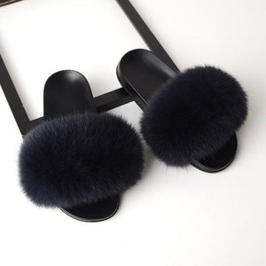 Trending Dealz Dark Grey / 6 Furry-Fab-Furry Slides