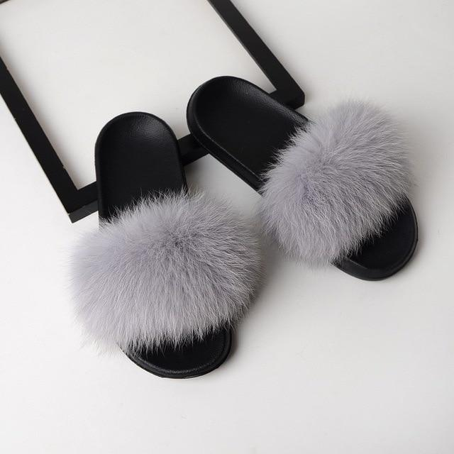 Trending Dealz Gray / 6 Furry-Fab-Furry Slides