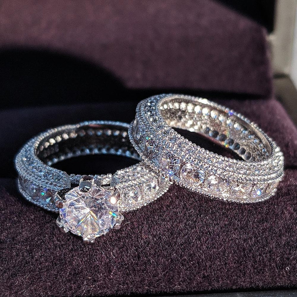 Trending Dealz Luxury and Bold Wedding ring set.