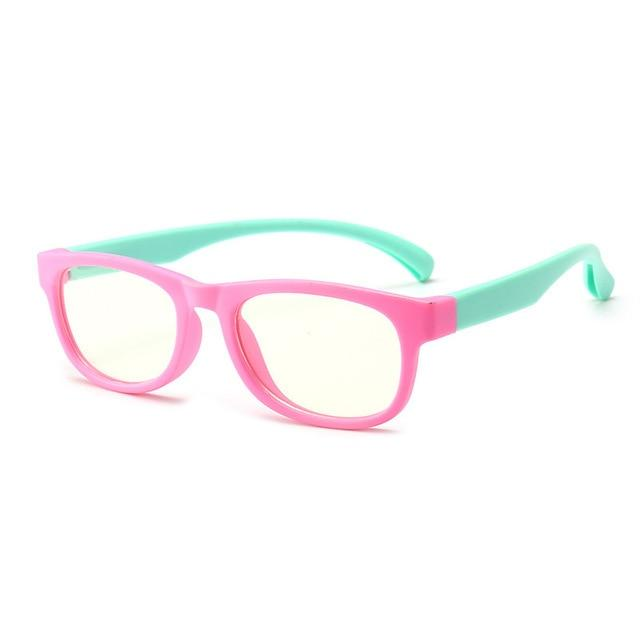 Trending Dealz Pink/Light Blue Kids Blue Light Blocking Glasses