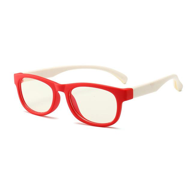 Trending Dealz Red/White Kids Blue Light Blocking Glasses