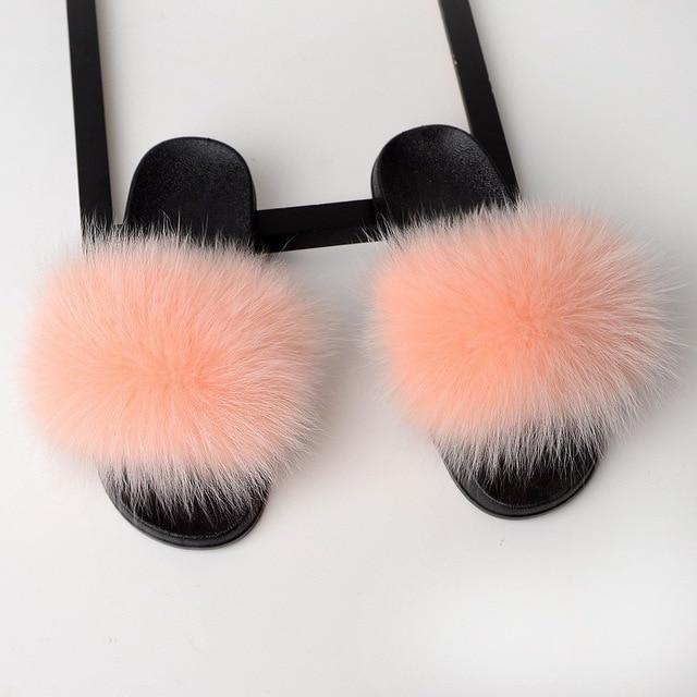 Trending Dealz Rubber Pink / 6 Furry-Fab-Furry Slides