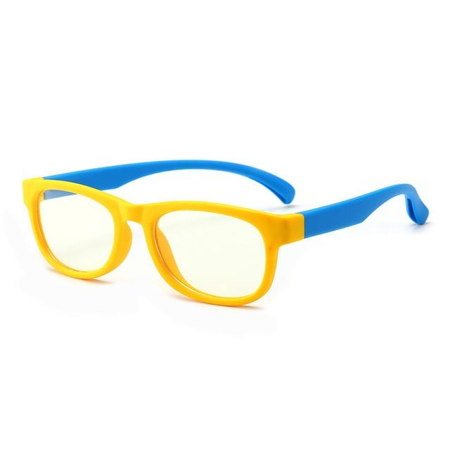 Trending Dealz Yellow/Dark Blue Kids Blue Light Blocking Glasses